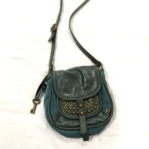 Fossil Teal Crossbody Bag